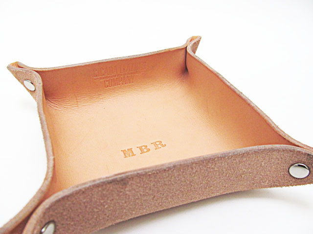 Cicada Leather Company - Leather Catchall Monogram